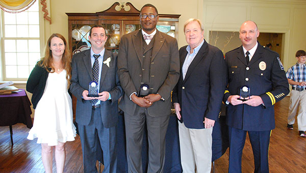 Award winners from left to right. Meredith and Anthony Tetloff, Michael Jones, Bob Butterworth and Jeremy Littleton. (Reporter Photo/Graham Brooks)
