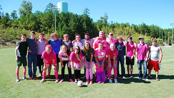 SCCCC students participated in a kick ball game to raise money for their annual Pink Out Day. (Reporter Photo/Graham Brooks)