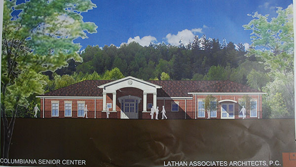 Here is an artist rendering of the new Columbiana Senior Center. (Contributed)