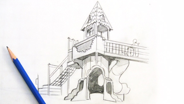A piece of the conceptual sketch of Carly's Clubhouse from Leathers and Associates. (Contributed)