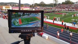Kevin Henderson's view while flying a drone over Alabaster's Larry Simmons Stadium before a September game. (Contributed)