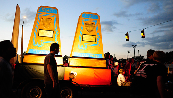 About 50 floats will participate in Alabaster's homecoming parade on Oct. 8. (File)