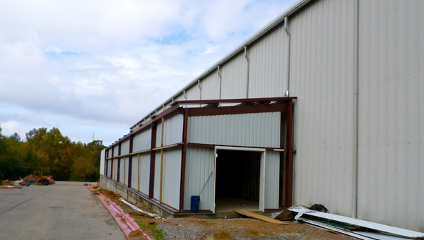 An addition to the west wall of the Pelham Civic Complex and Ice Arena will allow seating for nearly 400 to be added to the facility's practice rink. (Reporter Photo / Molly Davidson)