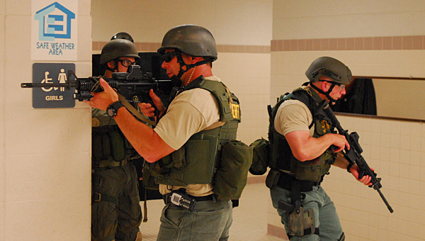 The A.L.I.C.E. training focuses on steps to take to stay safe during an active shooter situation until law enforcement personnel arrive. (File)