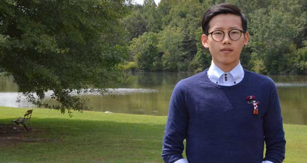 ISS senior Min Gu Kim has been named Student Activist Coordinator for Alabama by Amnesty International. (Contributed photo.)