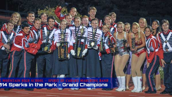 "The Oak Mountain High School ""Spirit of Cahaba"" Marching Band recently won awards at two marching competitions."