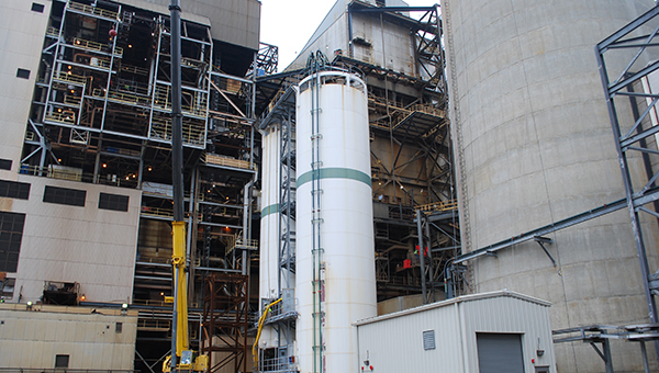 The ongoing projects at the E.C. Gaston Steam Plant in Wilsonville will have labor impacts as well as energy cost impacts in the future. (Reporter Photo/Graham Brooks)
