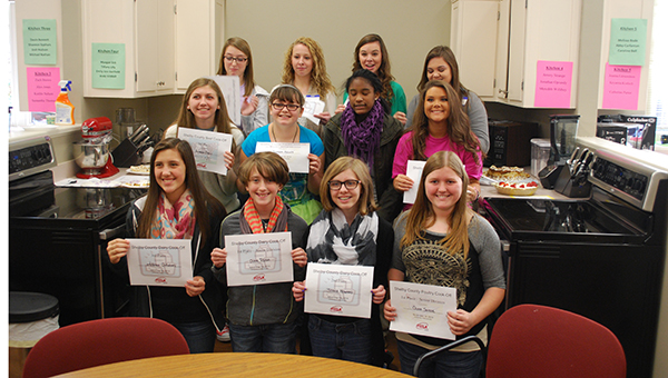 Pictured are the middle and high school students who received awards for their dishes in the Shelby County Cook-Off held on Friday, Nov. 14. (Reporter Photo/Graham Brooks)