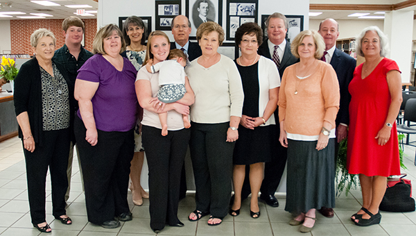 """Generations of the W.M """"Mack"""" Wyatt family gathered at the University of Montevallo's Carmichael Library for a donor event marking the addition of the W.M. """"Mack"""" Wyatt Digital Archive to the library's offerings. (Contributed)"""