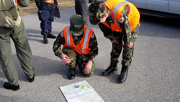 Members of the Civilian Air Patrol prepare to conduct a search and rescue operation at the Shelby County Airport on Nov. 22. (Contributed/Ginny McCarley)