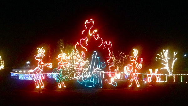 The Festival of Lights at Oak Mountain Amphitheater offers a mile of Christmas light displays. (Reporter Photo / Molly Davidson)