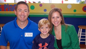 Ryan Funderburk was joined by his parents, Tim and Erika, at the Nov. 21 lunch at VES. (Reporter Photo / Molly Davidson)