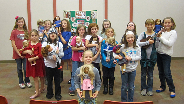 About 20 girls showcased their talents during an American Girls-themed event on Nov. 21 at Alabaster's Albert L. Scott Public Library. (Contributed/Ginny Cooper McCarley)