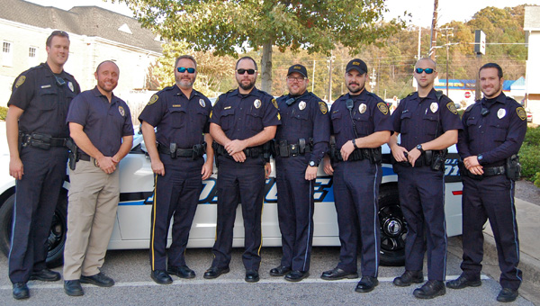 The Pelham Police Department, along with the Alabaster and Helena police departments, have been raising awareness and money for the Wings of Hope Pediatric Foundation through No Shave November. (Reporter Photo / Molly Davidson)