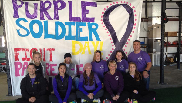 "Pancreatic Cancer Awareness Month kicked off in Alabaster with ""Purple Soldier Day"" on Nov. 1. (Contributed)"
