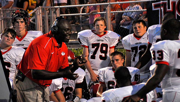Thompson High School head football coach Michael Montgomery, left, was terminated from the position on Nov. 4. (File)