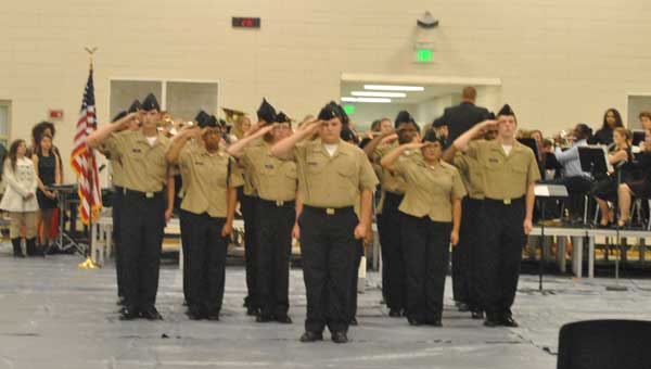 Calera High School recently held its third annual Veterans Day program. Contributed photo.