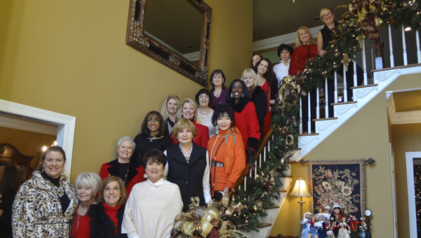 Members of the Greystone Ladies Club board get together for a group picture during the club's annual Christmas party Dec. 10. (Reporter Photo/Emily Sparacino)