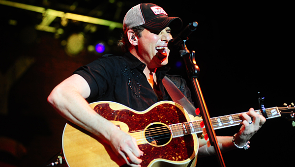 Country music star Rodney Atkins performs in front of thousands of fans at the Alabaster CityFest on June 7, 2014, at Municipal Park. (Reporter Photo/Jon Goering)