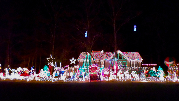The Phillips family is known for their dazzling Christmas decorations. This year, the home and yard are covered with around 70,000 lights. (Reporter Photo / Molly Davidson)
