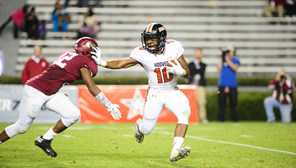 The Hoover Buccaneers won their third consecutive state championship behind Marcus Webb's 153 rushing yards and one touchdown. The Bucs racked up 244 total rushing yards in the game and defeated Prattville 35-21. (Reporter Photo/Jon Goering)