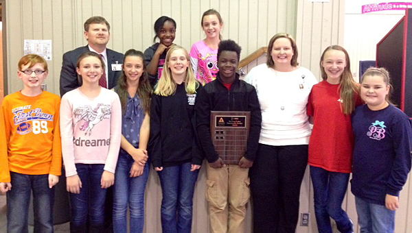 Thompson Sixth Grade Center won the Doug Trotter Community Spirit Award for the second year in a row. (Contributed)