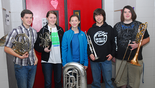 THS band member and drum major Emma Fell, second from left, was selected to perform at Carnegie Hall in New York City. (File)