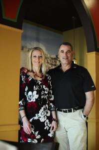Eli Markshtien and his wife, Laurel Wurthmann-Markshtien, opened Eli's Jerusalem Grill in early November. (Reporter Photo/Jon Goering)