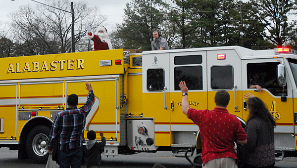 Santa Claus will be touring Alabaster with the help of the Alabaster Fire Department on Christmas Eve. (Reporter Photo/Neal Wagner)
