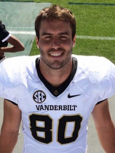 Shelby County native Davis Dudchock recently completed his last semester of collegiate football eligibility with the Vanderbilt Commodores. He began his collegiate football career at Stanford University after graduating from Oak Mountain High School. (Contributed photo.)
