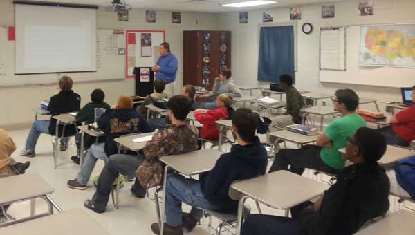 Calera High students heard from several speakers within their career interests on Career Day. (Contributed.)
