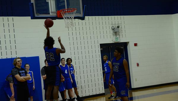 Kingwood Christian School, whose boys and girls basketball teams practice together, is excited about their athletic potential. (Reporter Photo / Baker Ellis)
