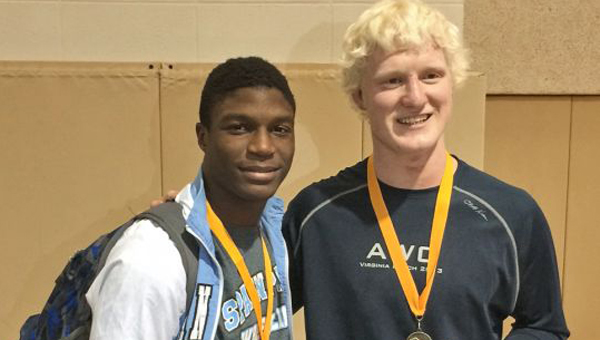 Leon Strong, left, and Kevin McClure competed in the Julian McPhillips' Invitational tournament over the weekend. (Contributed)