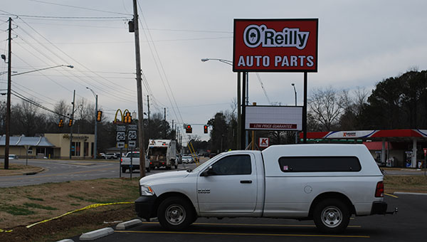 The O'Reilly Auto Parts store on West College Street in Columbiana is set to open on Saturday, Jan. 17. (Reporter Photo/Graham Brooks)