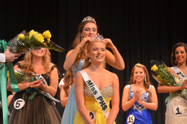 Presley Scherer is crowned the new Miss PHS on Saturday night, Jan. 24. (Reporter Photo/ Jon Harrison)