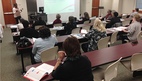 Workers 50 and older brush up on their job skills during a Jan. 22 class at Jefferson State Community College off Valleydale Road in Hoover. (Contributed)