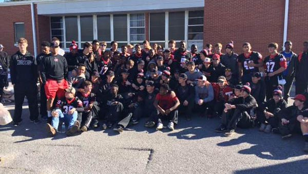 Roughly 100 Thompson students volunteered to help package food for the Alabaster community on the morning of Martin Luther King Day. (Contributed)