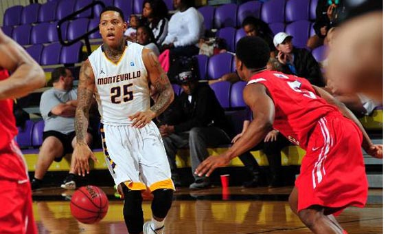 Troran Brown of Montevallo helped move the Falcons to 7-1 in conference play on Jan. 17. (Contributed)