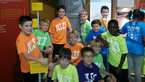 Lauren Roland's fourth grade students pause for a photo during their field trip to Vulcan Park in September. (Contributed)