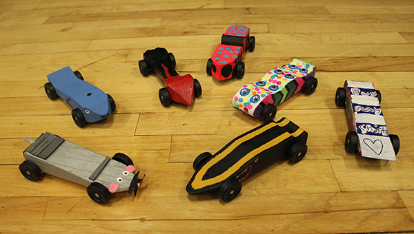 Here are a few of the cars the VMHS students designed and built over the seven-week STEM project. (Contributed)
