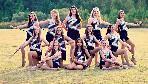 Pictured are current members of the Helena Middle School Majorette team. (Contributed)