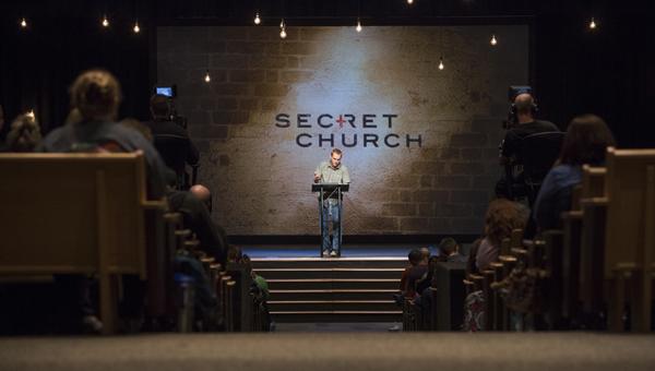 Former Brook Hills senior pastor David Platt leads Secret Church in April 2014. (Contributed/Amy Whitt, JWhitt Productions)