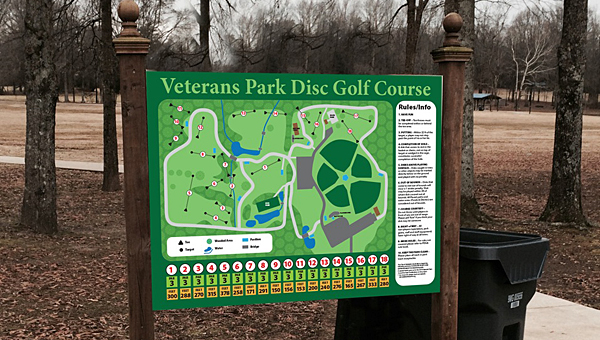 Alabaster will hold a grand opening ceremony for its new disc golf course at Veterans Park on Jan. 31. (Contributed)
