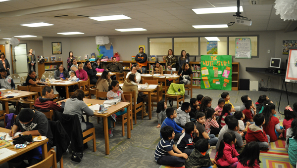 Students and parents participated in ESL night at Inverness Elementary School on Jan. 22. (Contributed)