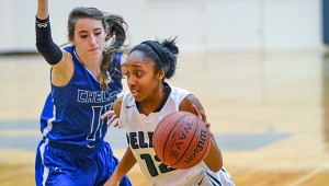 Pelham Girls Basketball - Erykah Hall drives toward the goal during the Panther's game against Chelsea Thursday, Jan. 8. (Contributed photo/David Jacks)