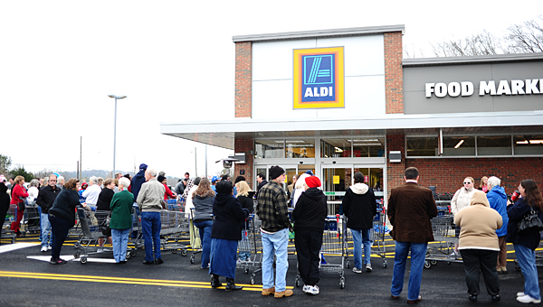 Aldi stores throughout the Birmingham area, including the new Alabaster store (pictured), will hold a hiring fair on Feb. 3 in Hoover. (File)