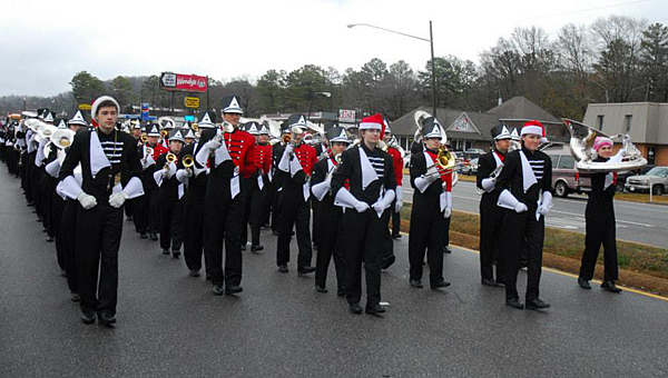 The Thompson High School Marching Southern Sounds are preparing to march in the governor's inauguration parade in Montgomery on Jan. 19. (Reporter Photo/Neal Wagner)