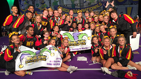 Thompson Middle School eighth-grader Alyssa Brown and her cheerleading team, the ACE Warriors, recently earned a paid bid to the World Competition in Orlando, Fla. (Contributed)