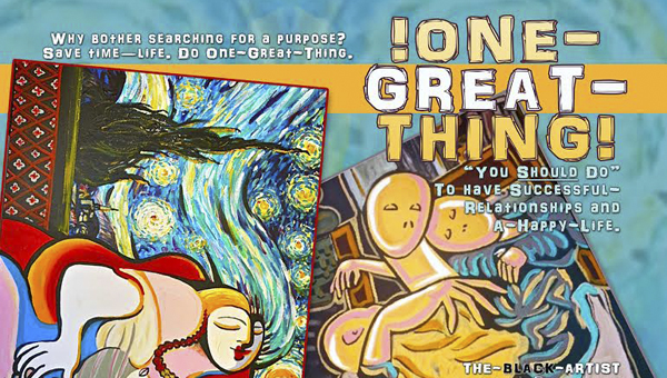 "Chelsea artist John Solomon Sandridge approached the Chelsea City Council about a project to distribute his book, ""!One-Great-Thing!"" to schools and correctional facilities across the state. (Contributed)"