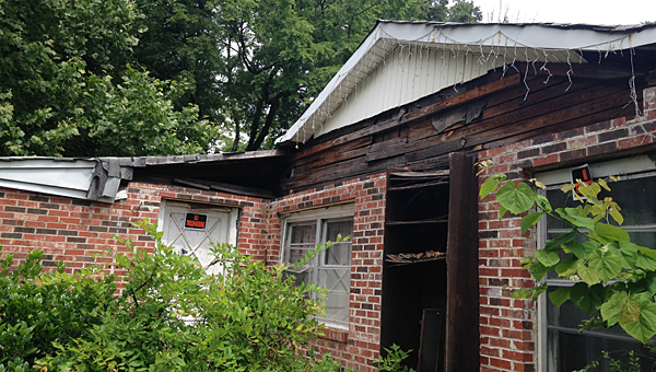 The Alabaster City Council is looking to approve the demolition of several dilapidated houses in the city, including this one at 731 First Street South. (Contributed)